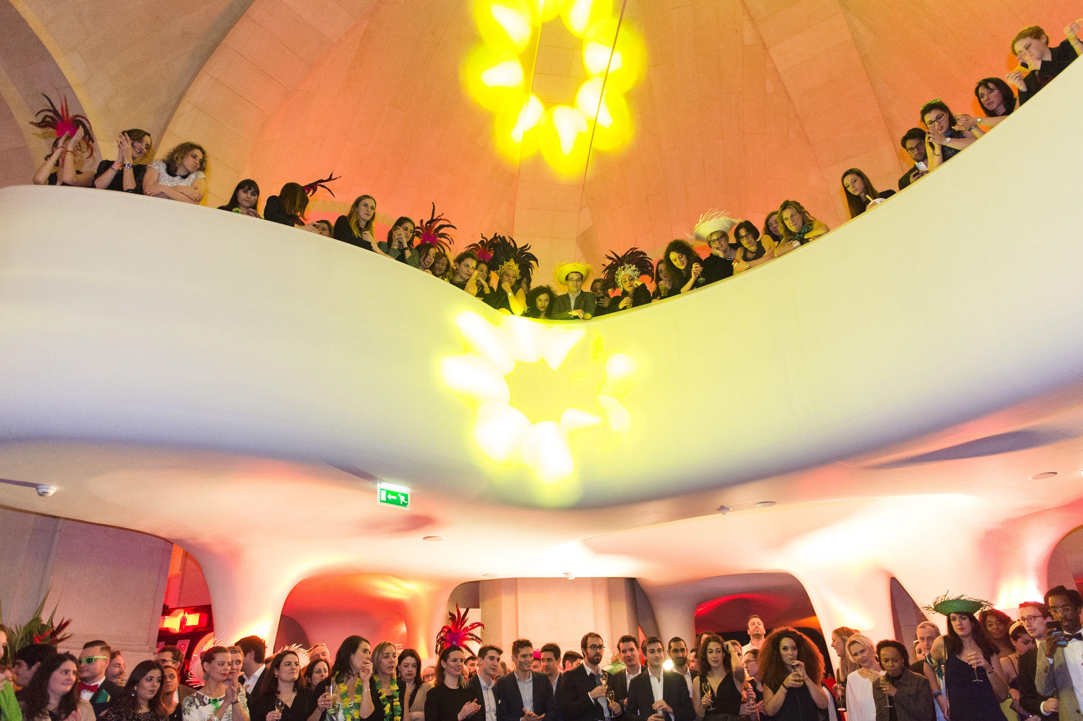 Cocktail dinatoire au Restaurant Opéra | Thème Brésil | Décembre 2017 | 500 pers. Vue Mezzanine