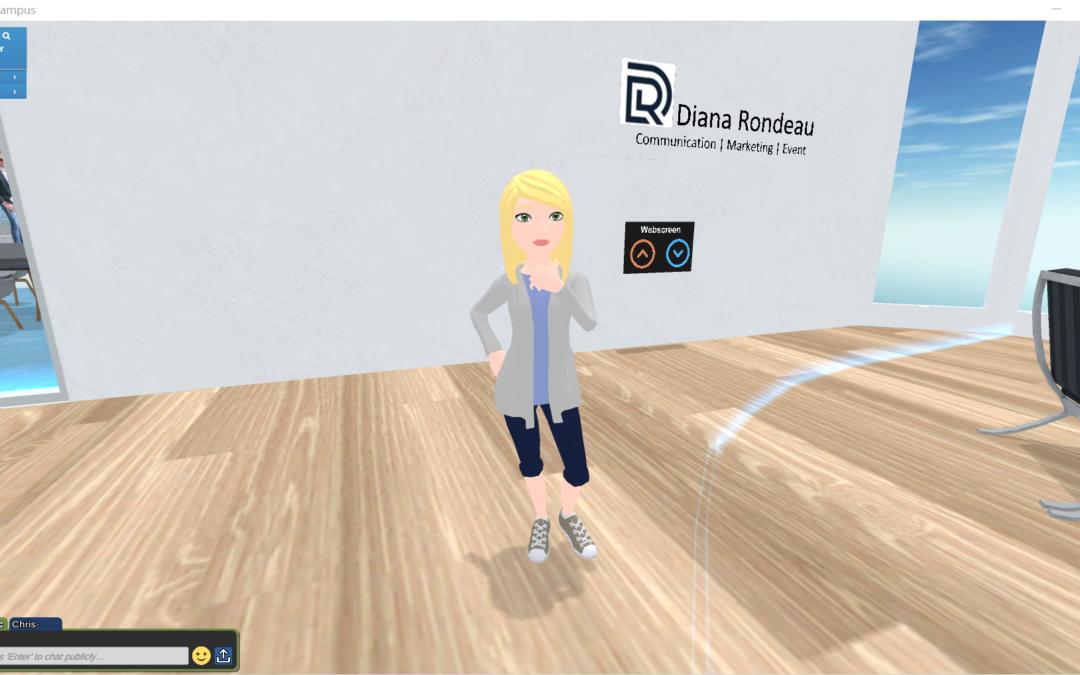Diana évolue dans la réalité virtuelle