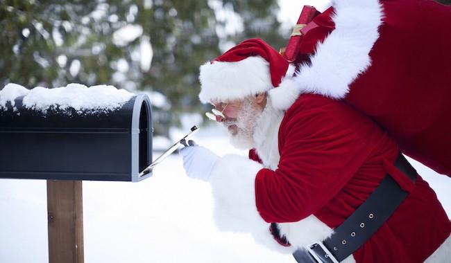Le Père Noël en visio