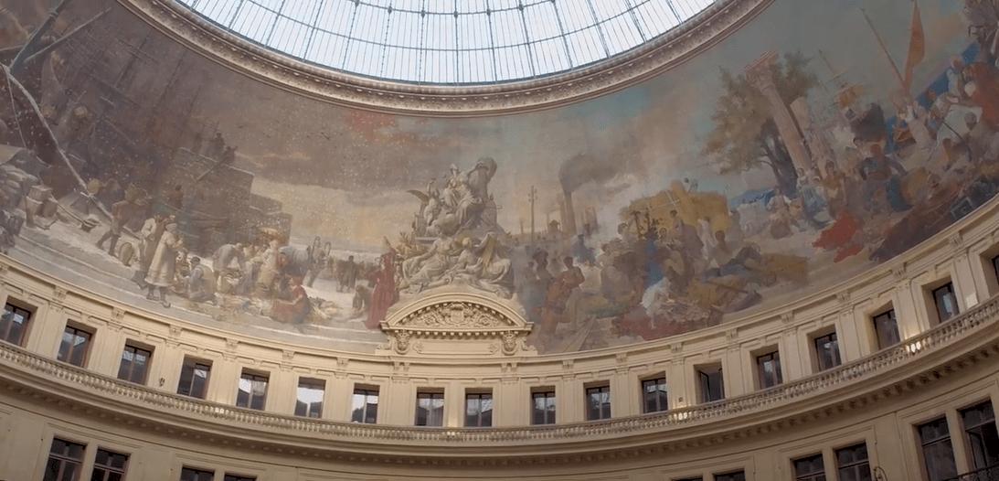 Peinture bourse de commerce de Paris